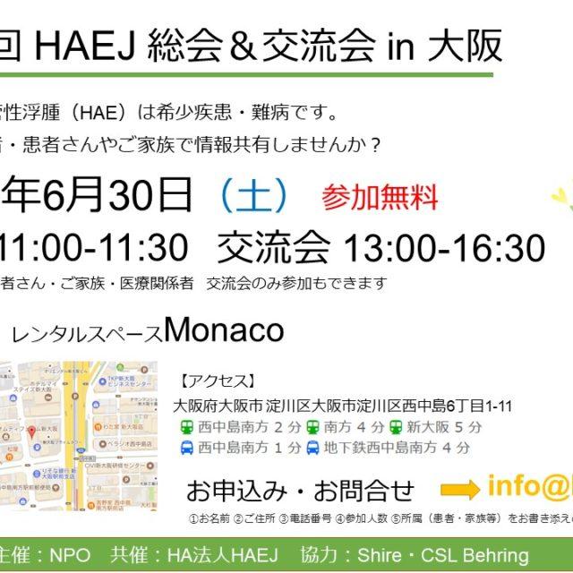 6/30(土)総会・交流会を開催します(大阪)